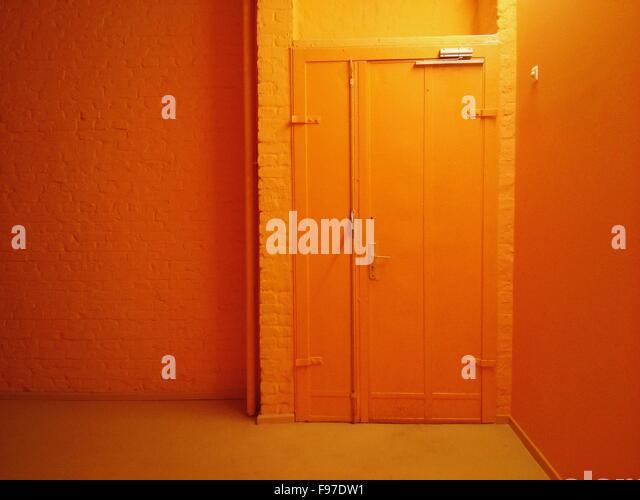 Innere des Orange House Stockbild