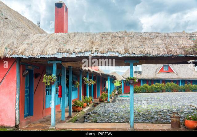 Historische Hacienda in der Nähe von Vulkan Cotopaxi in Ecuador Stockbild