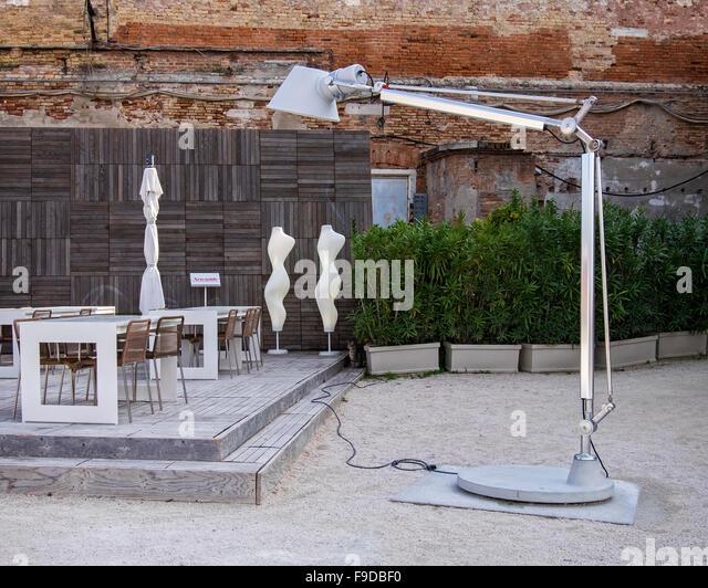 Design Café vom Sponsor VEDE, Venedig Excellence Design 2015 56. Biennale in Venedig, La Biennale di Venezia, Stockbild
