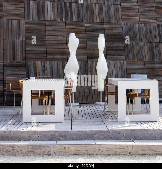 Designer-Kaffee-Shop vom Sponsor VEDE, Venedig Excellence Design, bei der 2015 56. Venedig Biennale.La Biennale Stockbild
