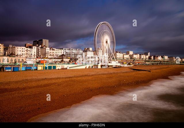 Die Strandpromenade, Brighton, Sussex, UK Stockbild