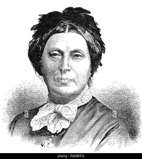 Isabella Braun, 1815-1886, ein Schriftsteller der deutschen Jugend, - Stock-Bilder
