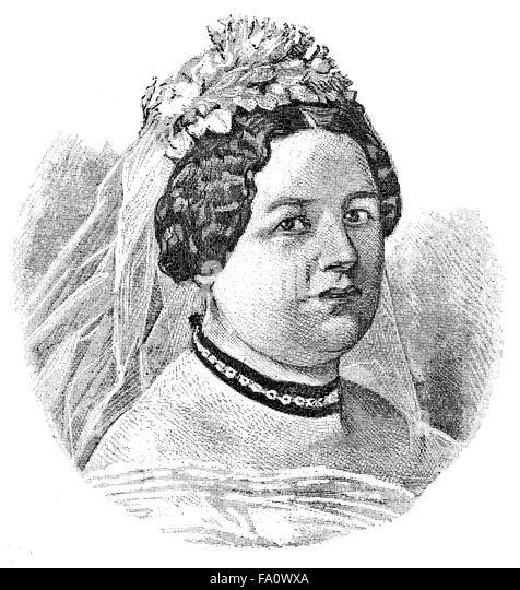 Helene von Hulsen, Gräfin von Haeseler; 1829-1892, deutsche Schriftstellerin und Salonnière, - Stock-Bilder