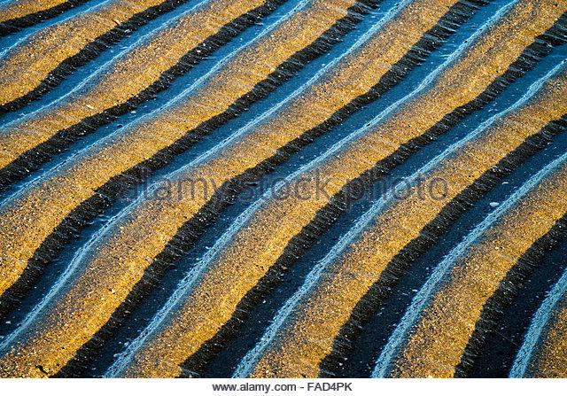 Sand Muster Abstracts, Alameda, Kalifornien Stockbild