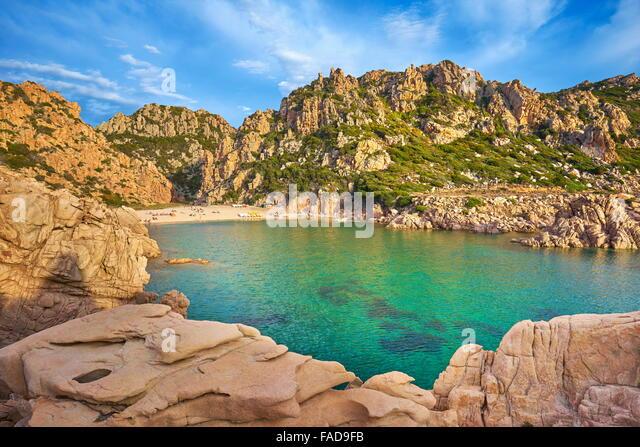 Costa Paradiso Beach, Insel Sardinien, Italien Stockbild