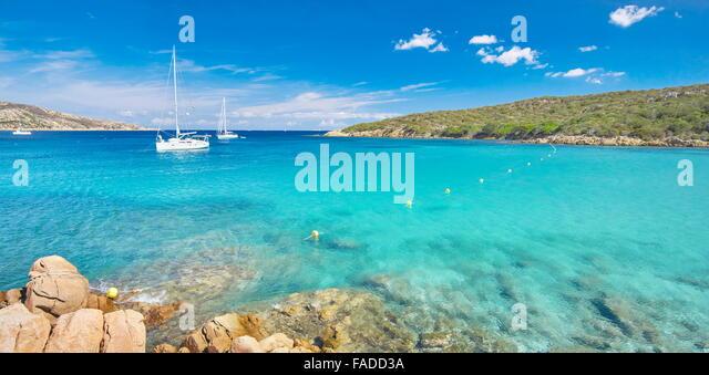 Cala Portese Beach, Insel Caprera, Sardinien, Italien Stockbild