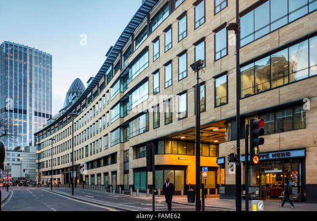 Deutsche Bank Bürogebäude von David Walker Architects in London Wall, City of London, Großbritannien Stockbild