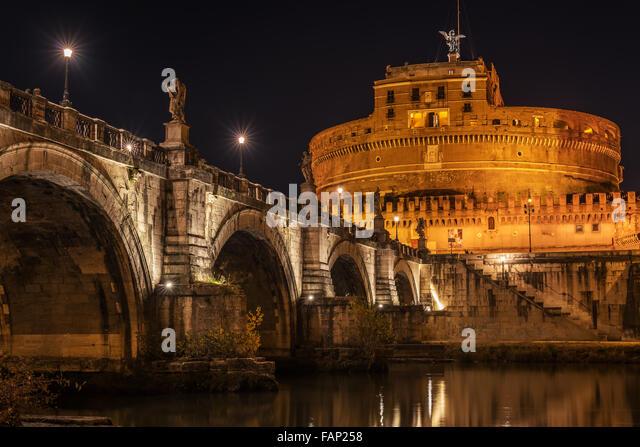 Rom, Italien: Hadrians Mausoleum oder Burg der Heiligen Engel Stockbild