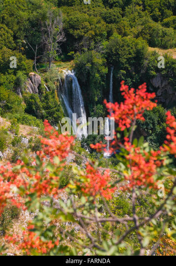 Krka Nationalpark, Wasserfall Manojlovac. Stockbild
