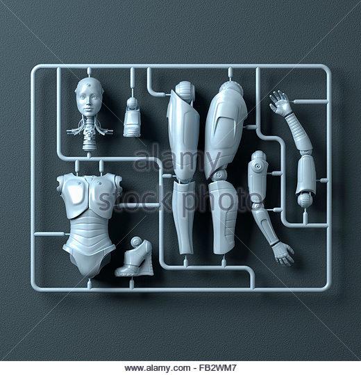 Kunststoff-Bausatz für weibliche android Stockbild