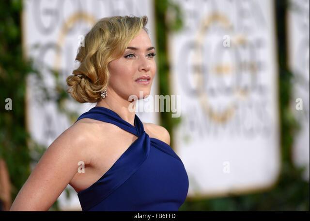 Los Angeles, Kalifornien, USA. 10. Januar 2016. Kate Winslet kommt bei den Golden Globes, Los Angeles, CA-Credit: Stockbild