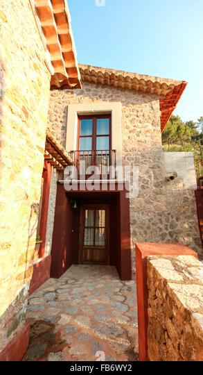 Balearen Mittelmeer Finca, Architektur von Mallorca. Stockbild