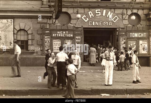 Kino, New Orleans, Louisiana, USA 1930 Stockbild
