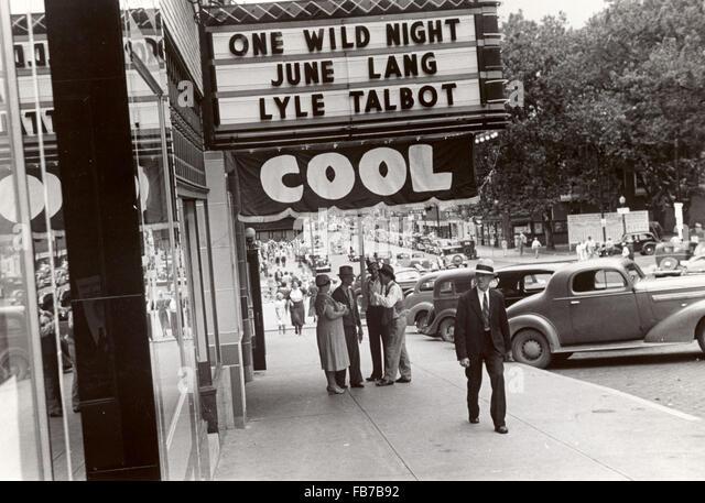 Film Theater, Ohio, Amerika, 1930 Stockbild