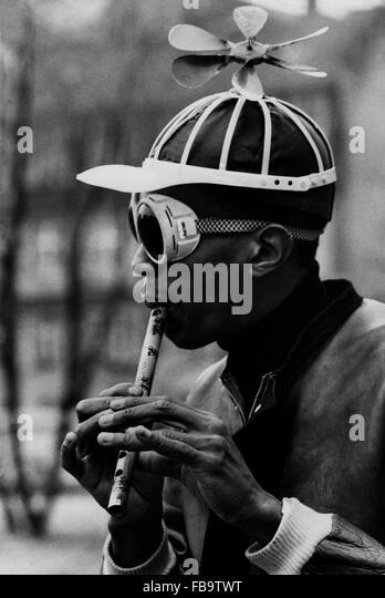 Don CHERRY, fotografiert während der Dreharbeiten zu dem Film machte die französische Filmemacher Jean Stockbild