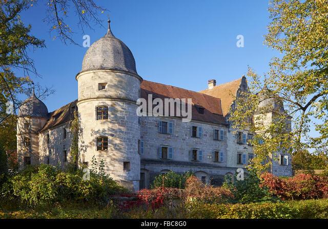 Schloss Mitwitz, Bayern, Deutschland Stockbild