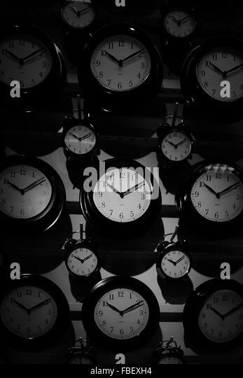 Full-Frame-Schuss von Uhren Stockbild