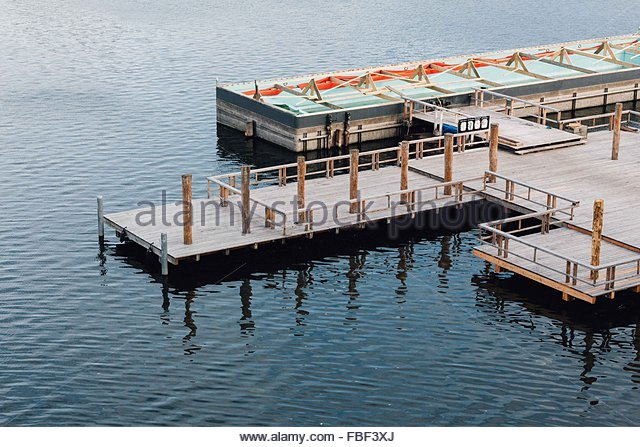 High Angle View Of Pier In See Stockbild