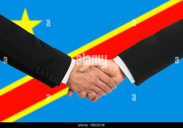 Der Demokratischen Republik Kongo Flagge Stockbild