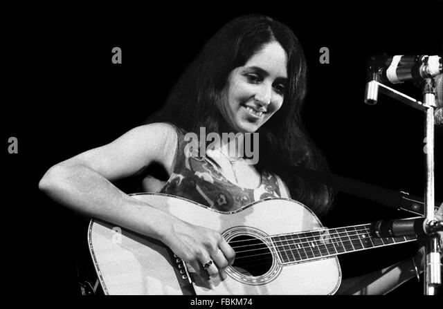 Joan Baez - 1966 - Frankreich / Ile-de-France (Region) / Paris - Joan Baez, -Philippe Gras / Le Pictorium Stockbild