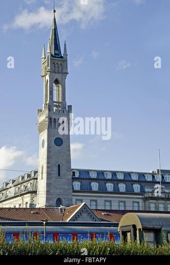 Bahnhof Turm Konstanz Stockbild