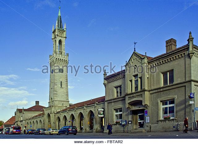Station mit Turm Konstanz Stockbild