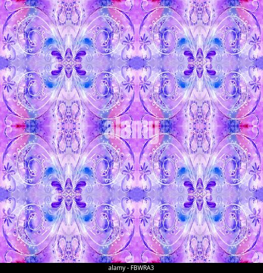 Aquarell lila Musterwiederholungen Stockbild
