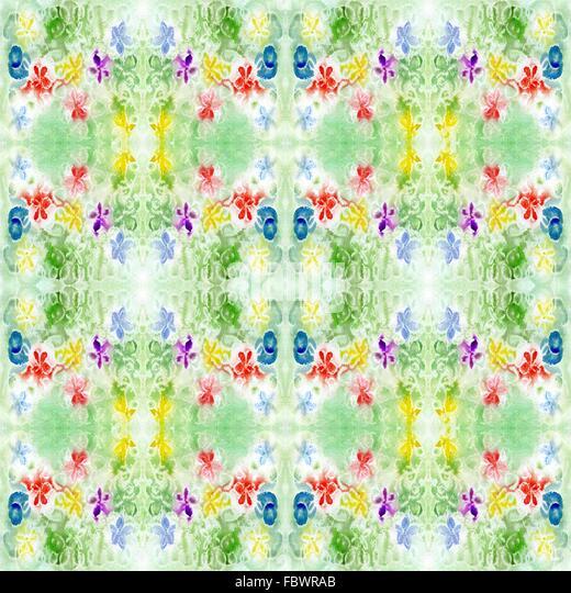Aquarell grün Muster-Wiederholung Stockbild