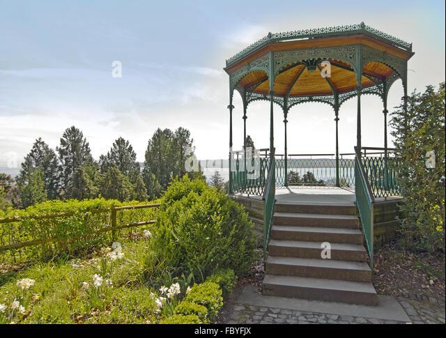 Pavillion Garten Stadt Überlingen Stockbild