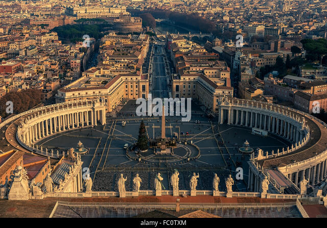 Luftaufnahme des Vatikan und Rom, Italien Stockbild