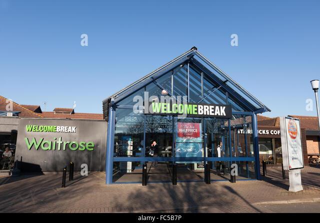 Warwick Welcome Break Dienstleistungen auf dem M40 Stockbild