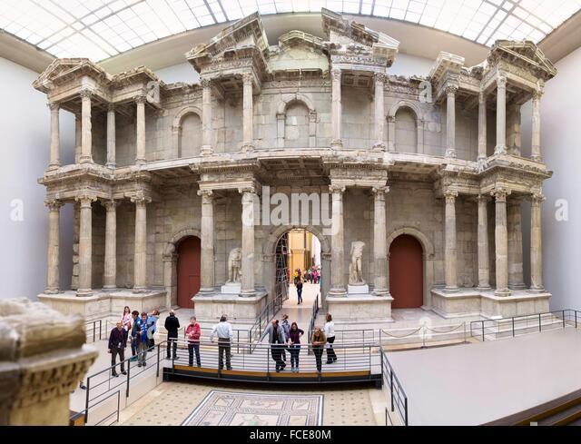 Rekonstruktion der das Markttor von Milet, Pergamon Museum, Berlin, Deutschland. Stockbild