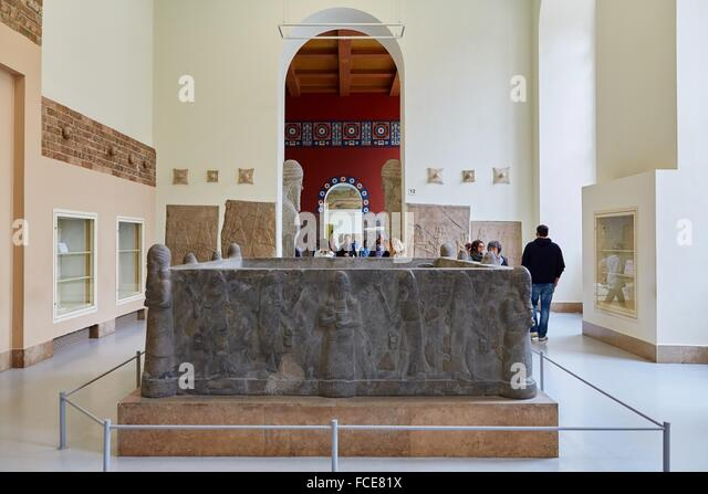 Rekonstruktion der assyrischen Palast, Pergamon Museum, Berlin, Deutschland. Stockbild