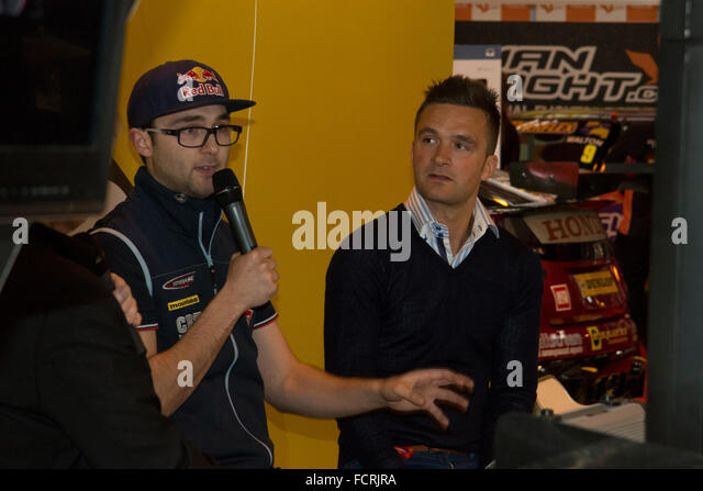 Andrew Jordan und Colin Turkington bei Autosport International 2016 NEC Birmingham UK Stockbild