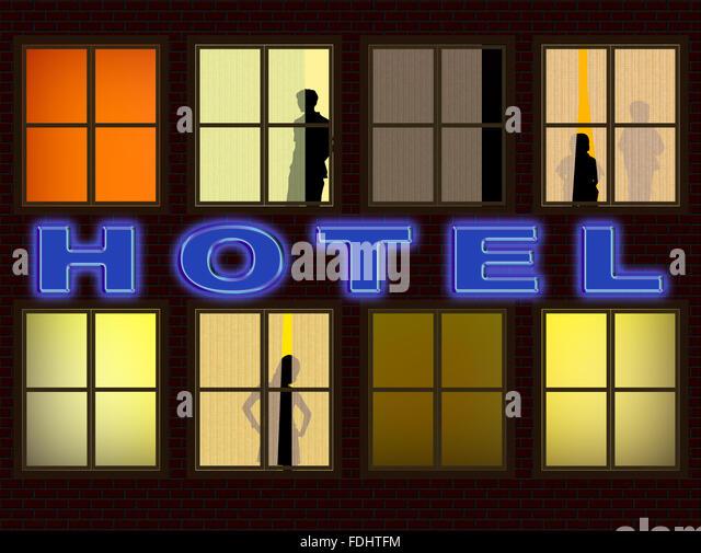 Günstiges Hotel Stockbild