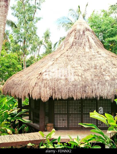 Ein Massage-Pavillon im Mandala Spa. Insel Boracay, Philippinen, Süd-Ost-Asien. Stockbild