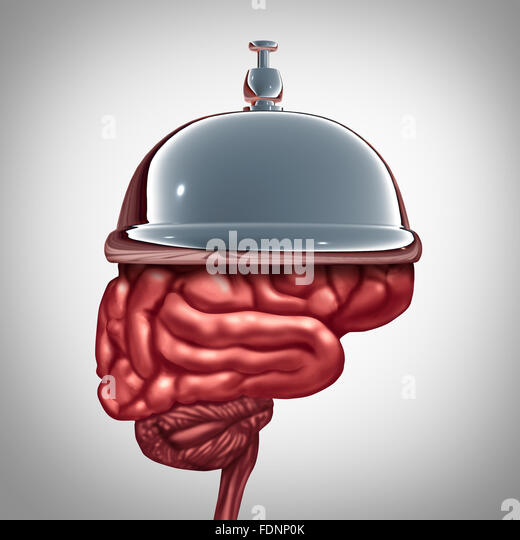 Bildungsdienstleistungen und psychiatrischen Diensten oder intelligente Hilfe Konzept wie eine Glocke Hotel auf Stockbild