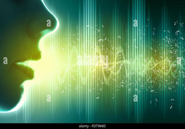 Equalizer Schallwelle Hintergrunddesign. Farbe Abbildung. Stockbild