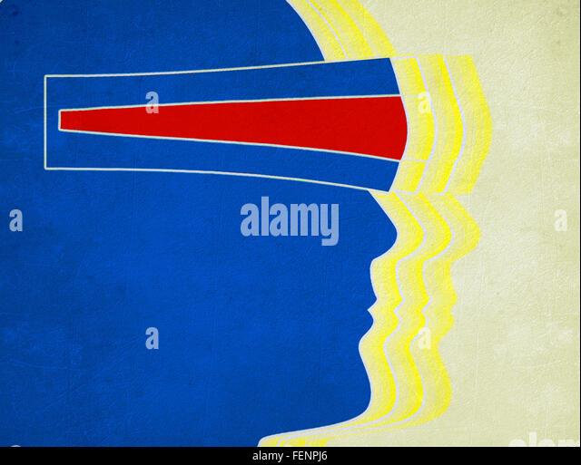 Virtual-Reality-Konzept digitale illustration Stockbild