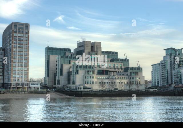 MI6-Gebäude.  Vauxhall.   Geheimdienste Terry Farrell Stockbild