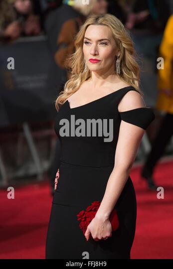 London, UK. 14. Februar 2016. Schauspielerin Kate Winslet. Roten Teppich Ankünfte für den 69. EE British Stockbild