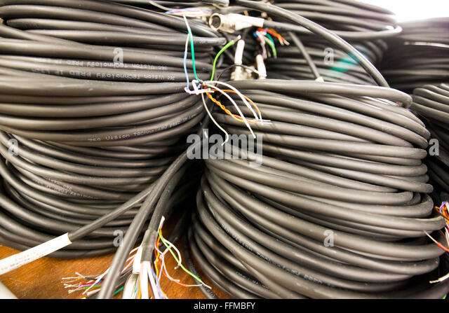 dicken Elektrokabel Stockbild
