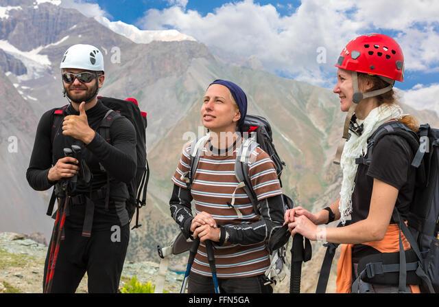 Gruppe von Bergsteigern Stockbild