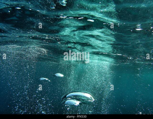 Full-Frame Schuss Wasser mit Bubbles Stockbild