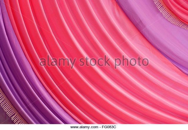 Abstrakt, Vorhang, Falten, rosa Stockbild