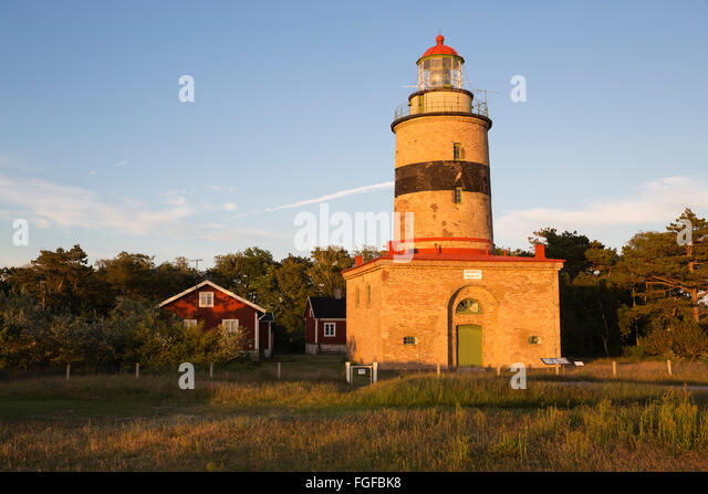 Falsterbo Leuchtturm, Skanör Falsterbo, Falsterbo Halbinsel, Skåne (Scania), Südschweden, Schweden, Stockbild
