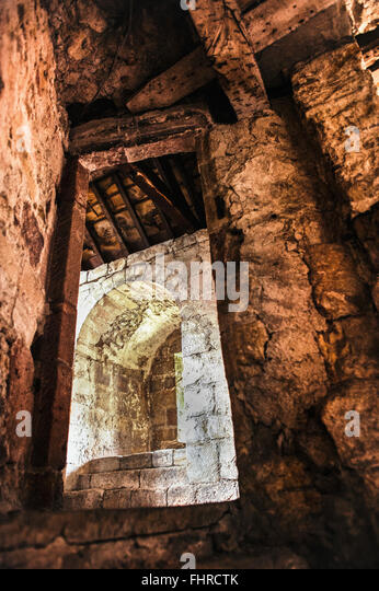 alte Ruinen Tür Stockbild