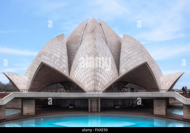 Lotus-Tempel, Delhi, Indien, Asien Stockbild