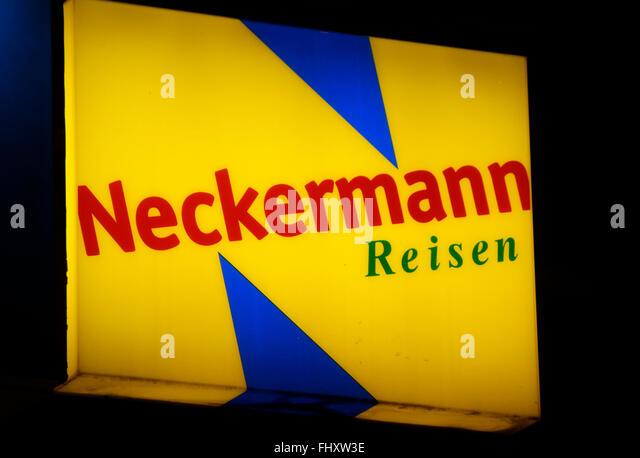 """Markennamen: """"Neckermann Reisen"""", Berlin. Stockbild"""