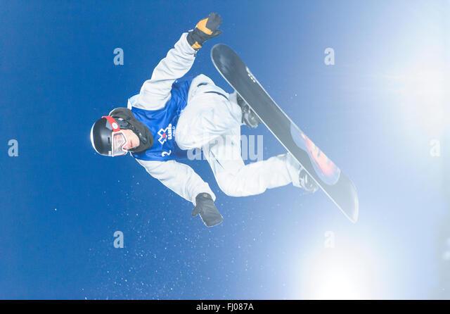 Oslo, Norwegen. 26. Februar 2016 kam 2016 Winter X Games in Oslo, in diesem Jahr bringt Sportler aus allen Teilen Stockbild
